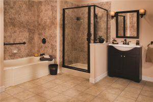 tub shower combo install