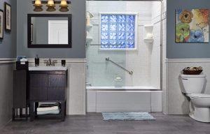 new remodeled bathtub installation